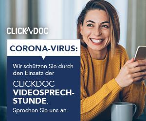 CORONA-VIRUS: WIR SCHÜTZEN SIE DURCH DIE NUTZUNG VON CLICKDOC VIDEOSPRECHSTUNDE. BEI ZAHNMAENNLE